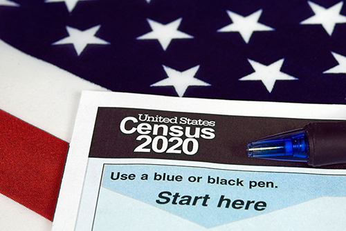 Image of 2020 United States Census form